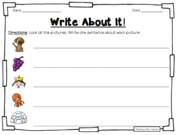 Write About It! - NO PREP Independent Writing Practice - Set 1
