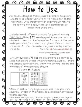 Write About It- Journal Prompts