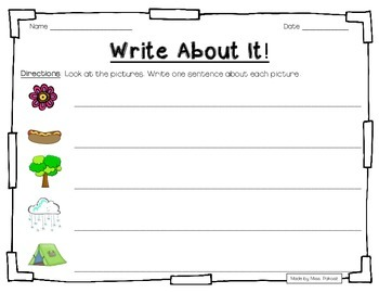 Write About It! - NO PREP Independent Writing Practice - Set 2