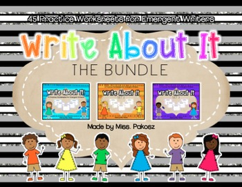 Write About It! - NO PREP Independent Writing Practice - The Bundle!