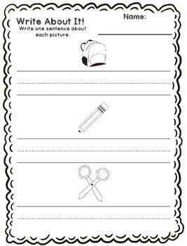 Write About It - Sentence Writing Printables