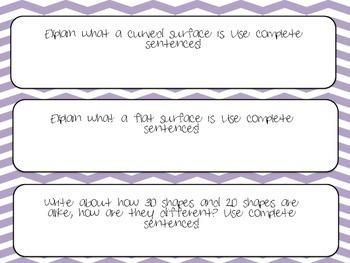Write About Math 3D Shapes!