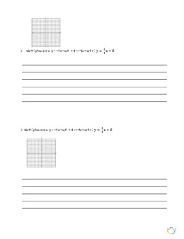 Write About Math - Linear Equations