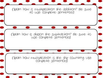 Write About Math: Multiplication and Division