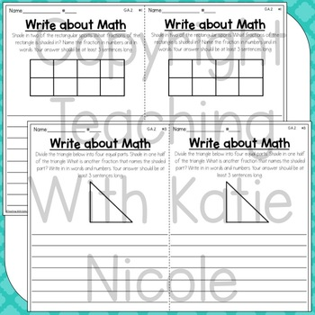 Write About Math Numbers in Base Ten and Geometry
