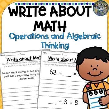 Write About Math: Operations and Algebraic Thinking