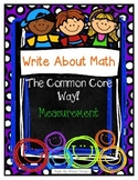 Write About Math The Common Core Way {Measurement}