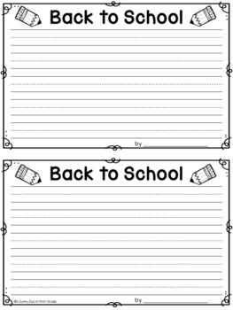 Write About Me: Back to School!