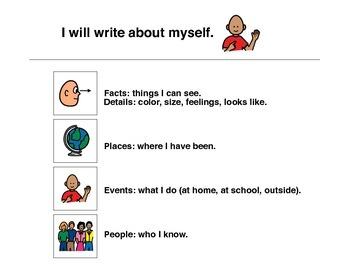 Write About Myself - Autism VISUAL