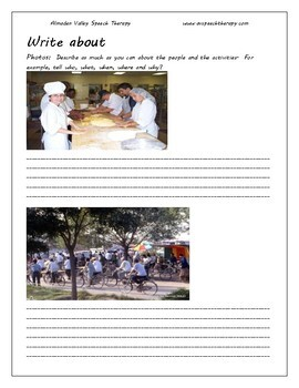"""ESL """"Write About"""" Photos: Exercises for Oral Expression"""