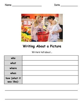 Write About Picture! 3 Pack BUNDLE - Visual Writing Prompts Great for ELLs