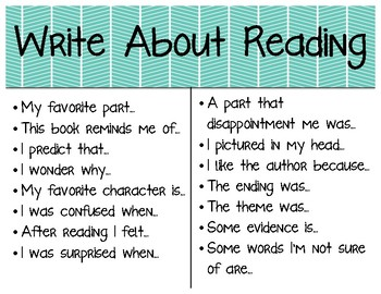 Write About Reading Poster