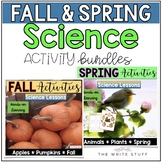 Science Activities BUNDLE Fall and Spring