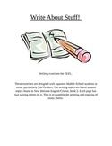 Write About Stuff! TEFL writing booklet