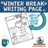 Write About Your Winter Break | Authentic Writing Experien