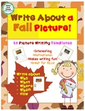 Write About a Fall Picture! Visual Writing Prompts - Great for ELLs