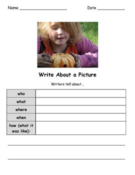 Write About a Fall Picture! Visual Writing Prompts - Google Drive Edition
