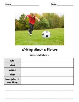 Write About a Picture! Visual Writing Prompts - Great for ELLs