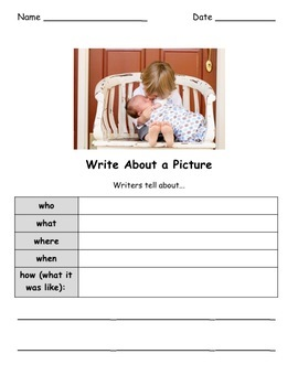 Write About a Picture! Family & Friends Writing Prompts Google Drive Edition