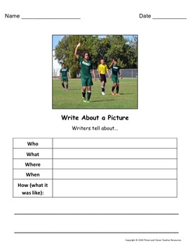 Write About a Picture! Middle School and up - Great for ELLs
