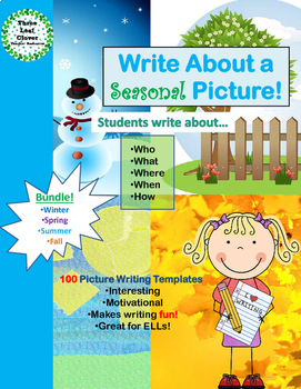 Four Seasons Writing Activities -  Write About a Seasonal