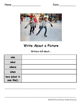 Write About a Seasonal Picture! FREE Writing Activity Sample