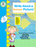 Write About a Summer Picture! Visual Writing Prompts - Great for ELLs