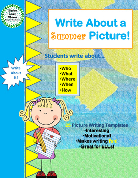 Write About a Summer Picture! Visual Writing Prompts - Gre