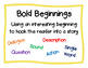 Write All About It! Bold Beginnings
