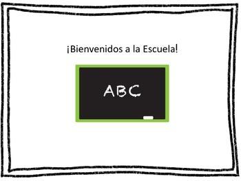 Write All About It!-Spanish-Bienvenidos a la escuela & Mis cinco sentidos