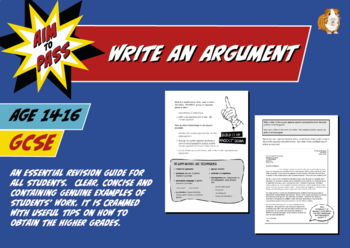 Write An Argument For GCSE English (14-16 years)