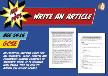 Write An Article For GCSE English (14-16 years)