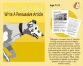 Write An Article Persuading People To Get A Pet (7-11 years)