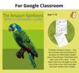 Write An Information Leaflet On The Rainforest: Google Classroom Resource (7-12)