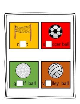 Sports Missing Vowel Cards