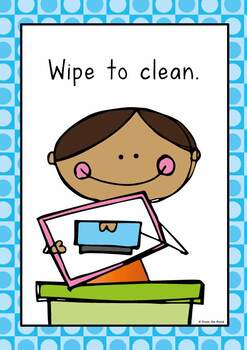 Write And Wipe Center / Activity Rule Posters