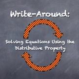 """Write-Around"" Solving Equations Distributive Property ENG"