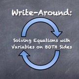 """Write-Around"" Solving Equations Variables Both Sides ENGAGE STUDENTS"