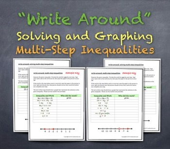 """Write-Around"" Solving & Graphing Multi-Step Inequalities"