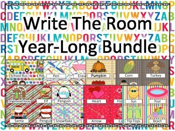 Write Around The Room  Year Long BUNDLE