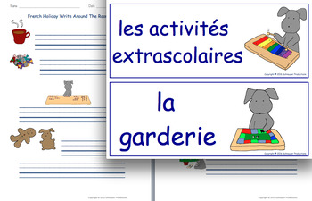 Write Around The Room With Pepper In French
