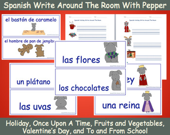 Write Around The Room With Pepper In Spanish