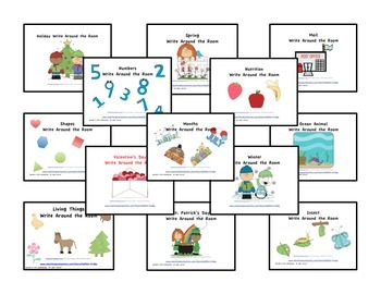 Write Around the Room BUNDLE-- 36 centers for the ENTIRE YEAR