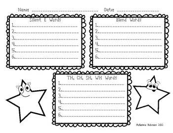 Write Around the Room: Digraphs, Blends and Silent-E