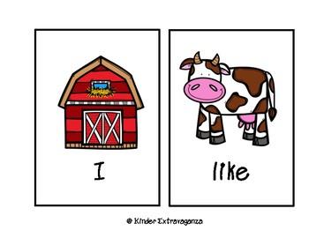 Write Around the Room Farm Theme