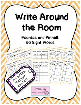 Write Around the Room Fountas and Pinnell 50 Sight Words