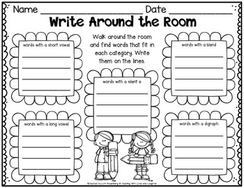 Write Around the Room Freebie