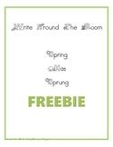 Write Around the Room: Spring Has Sprung