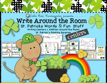 Write Around the Room St. Patrick's Day Words & Fun Stuff