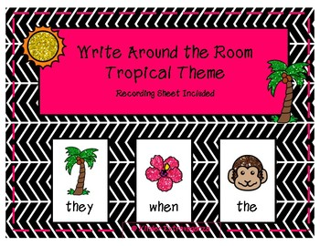 Write Around the Room Tropical Theme